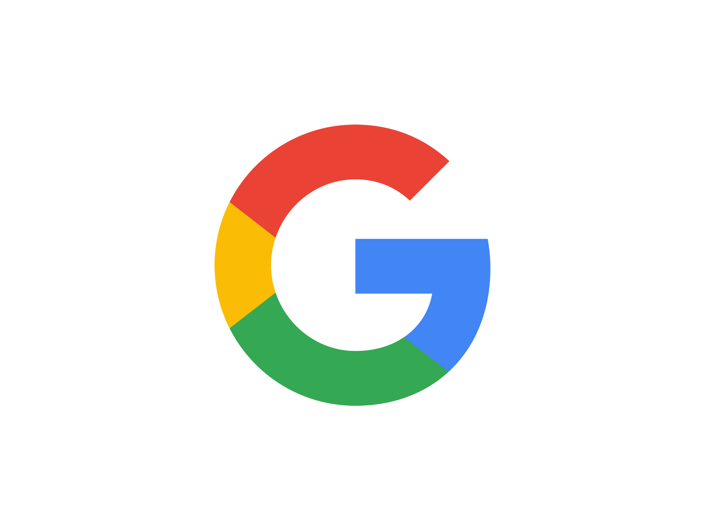 Google logo in red, yellow, green, and blue