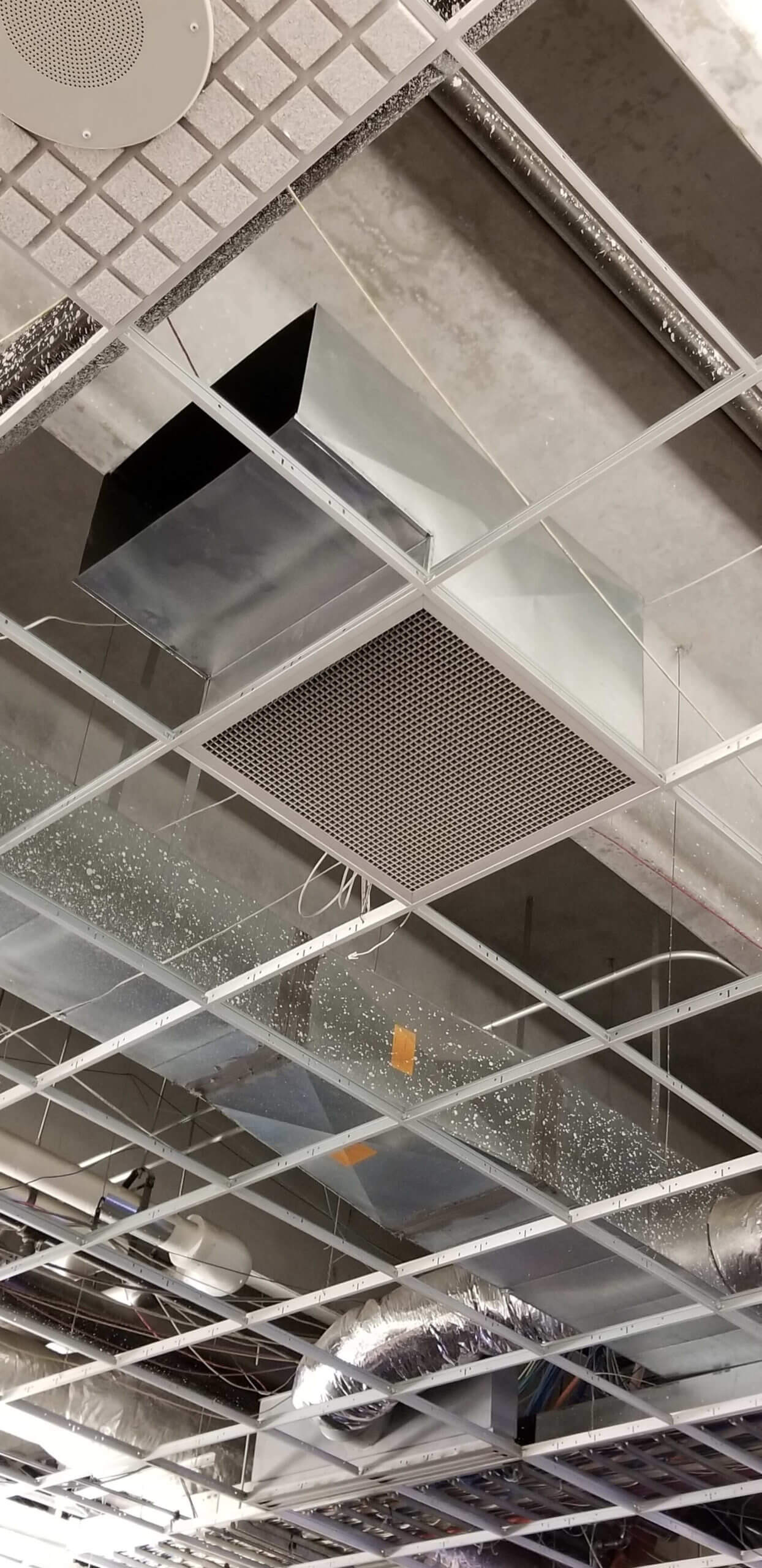 Commercial air ducts cleaned after experiencing a fire