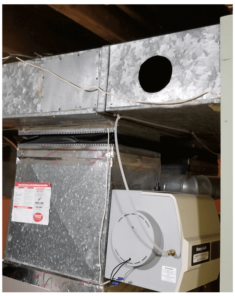 HVAC system prepared for air duct cleaning by Planet Duct