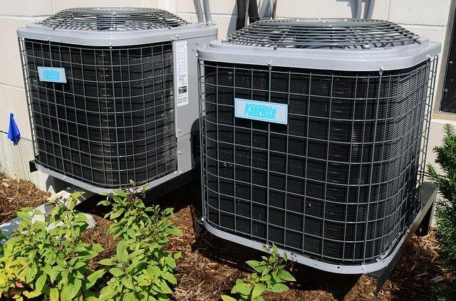 Picture of two large air conditioners
