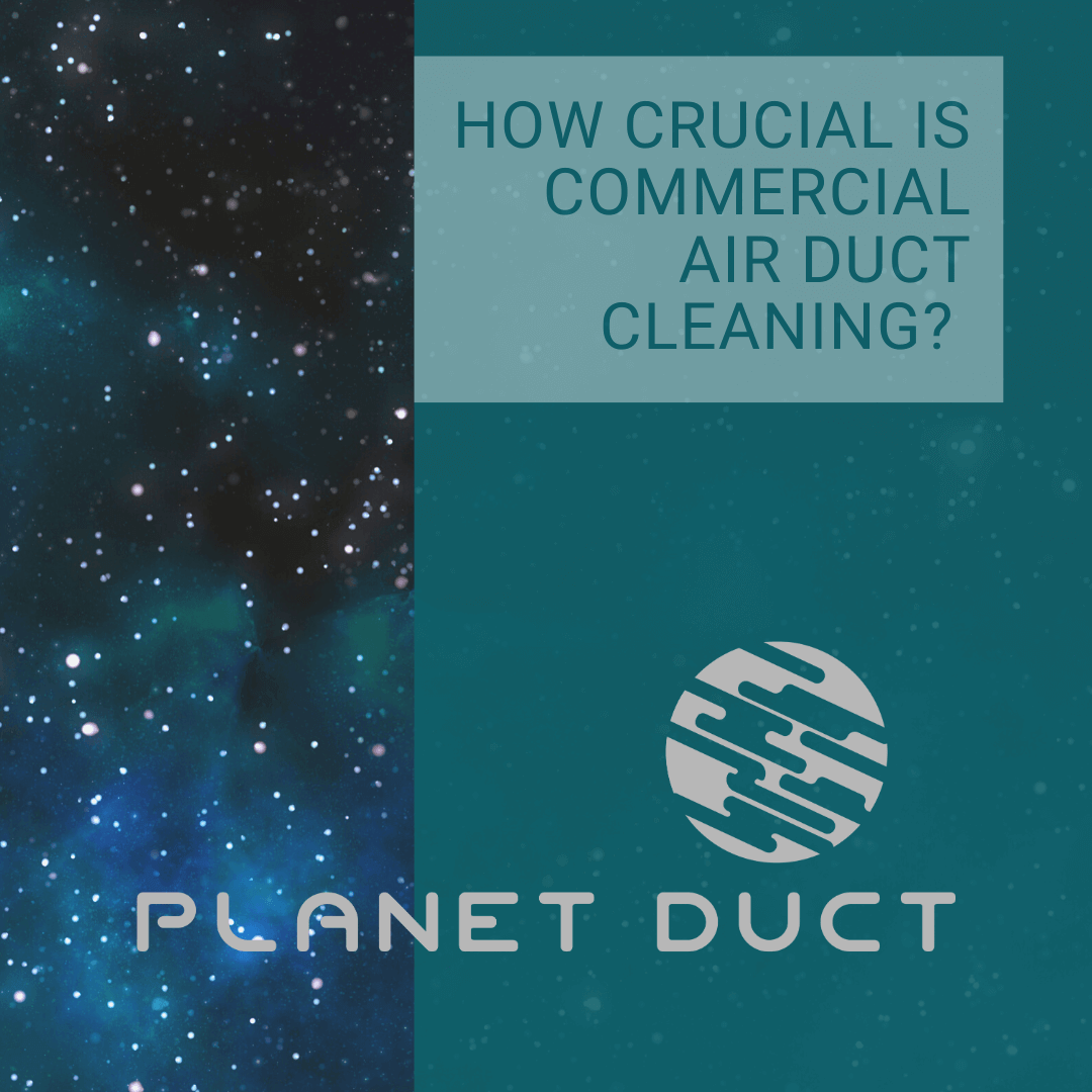 Planet Duct's logo with a starry background and text